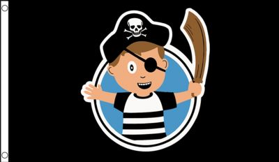 PIRATE CHILD BOY - 5 X 3 FLAG